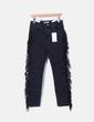 Jeans noirs skinny avec frange Zara