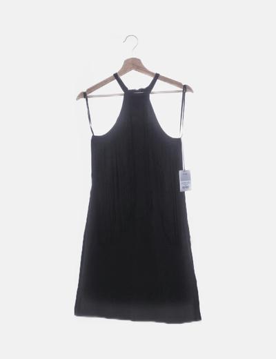 Vestido flecos negro