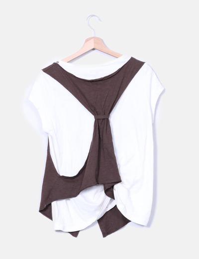 Camiseta chaleco tonos marron
