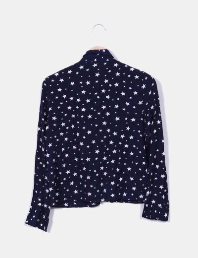 Camisa azul marino estrella