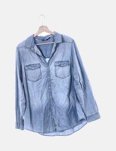 f9ebece0f Camisa denim azul manga larga Kiabi