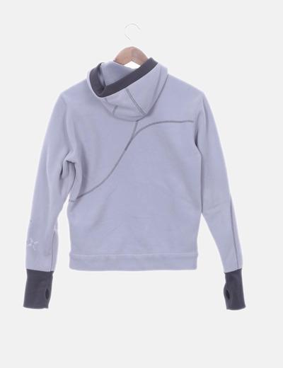 nueva productos 0a92b 4a84f Chaqueta polar gris con capucha