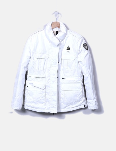 Chaqueta blanca bolsillos Blauer