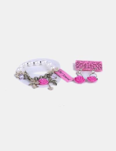 Conjunto de pulsera y pendientes Betsey Johnson
