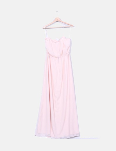 Vestido maxi gasa rosa baby Suiteblanco