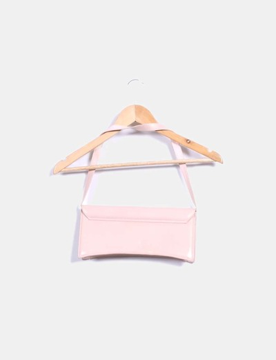 Bolso nude irisado rectangular