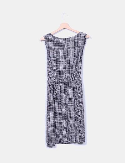 Vestido mini estampado con lazo