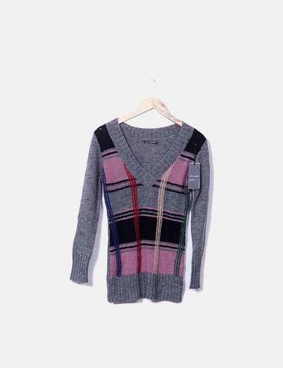 Maglione grigio lavorato a maglia Last Woman