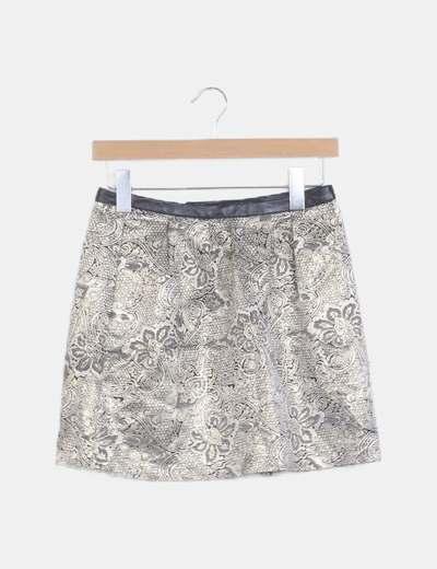 Falda mini estampada étnica
