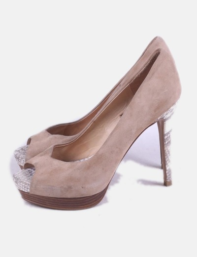 Zapato beige animal print