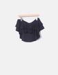Mini falda volantes negro Zara