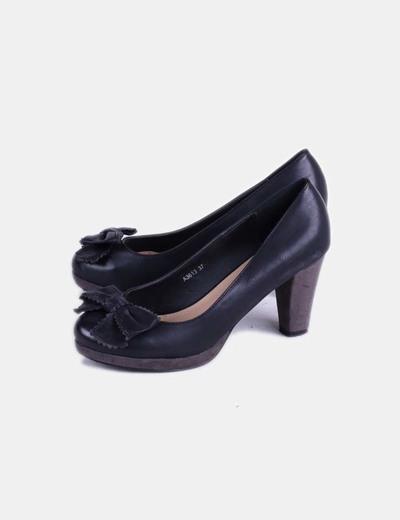 Zapato negro print lazo Marypaz