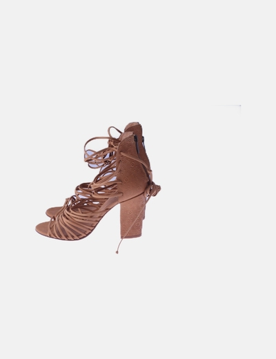 Sandalia de tacón lace up marrón