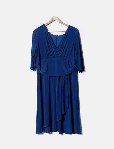 Fashion New York Blaues Kleid Kombiniert Rabatt 78 Micolet