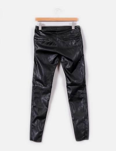 Pantalon de polipiel negro