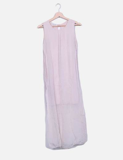 Vestido gasa rosa palo Bruna