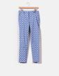 Pantalón de pinzas estampado mosaico  Zara