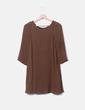Vestido gasa marrón Zara
