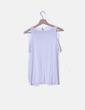 Camiseta manga corta blanca con hombro descubierto Stradivarius