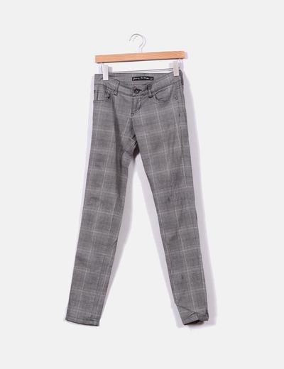 baratas para descuento a75a9 c3cf4 Pantalón recto de cuadros