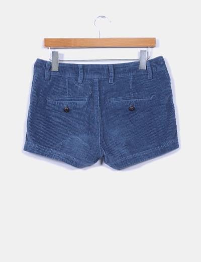 Short azul de pana