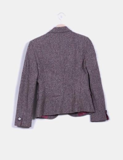 Blazer tweed marron