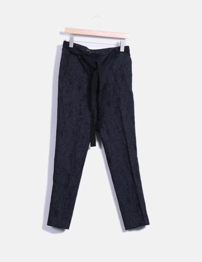 Pantalón texturizado de pinzas  Purificación García
