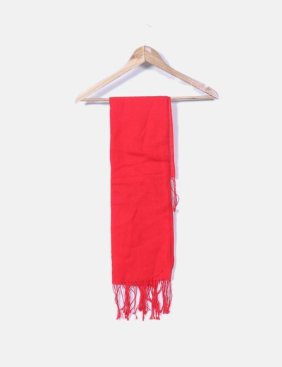 Bufanda hilo roja con flecos NoName