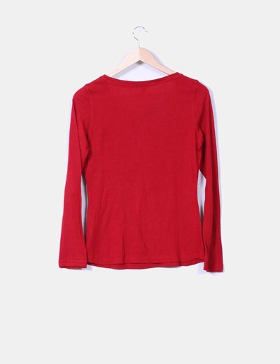 Camiseta roja manga larga