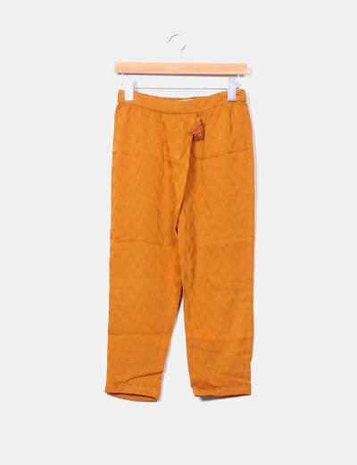 Pantalón harem mostaza  Zara