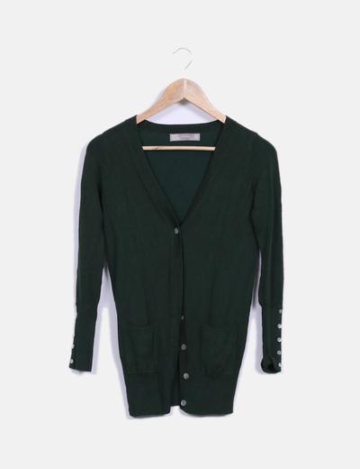 Cárdigan verde Zara