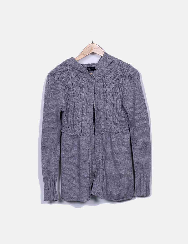 dd46b9a59e3 y baratos de de con Chaqueta online capucha gris Abrigos punto Zara  Chaquetas Mujer POq0w0gnC ...