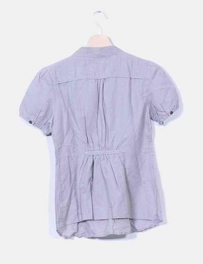 Blusa gris manga corta
