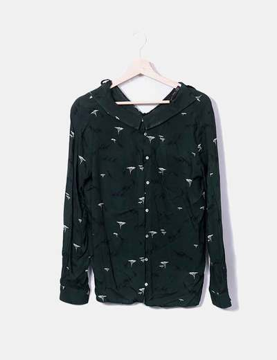 Camisa verde print