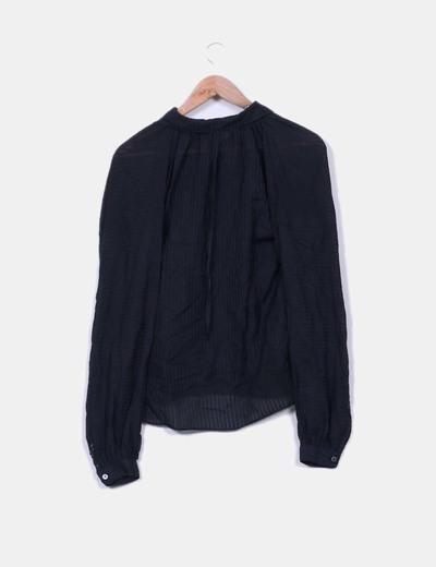 Blusa negra rayas coleccion kate moss