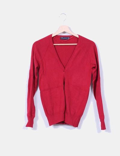 Chaqueta de punto roja Zara