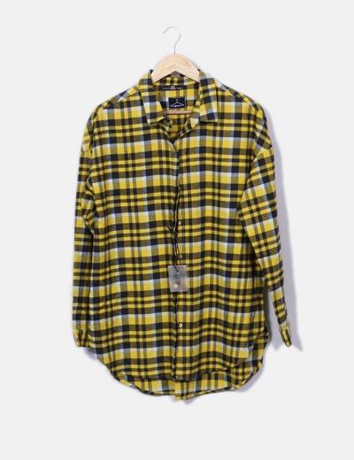 Sh Camisa xadrez amarela de tamanho grande (desconto de 75%) - Micolet 346339b51aa