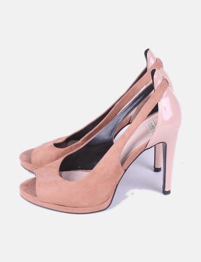 Zapato de tacón rosa palo