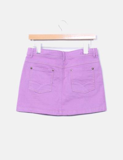 Mini falda morada