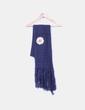 Bufanda azul marino con flor Desigual
