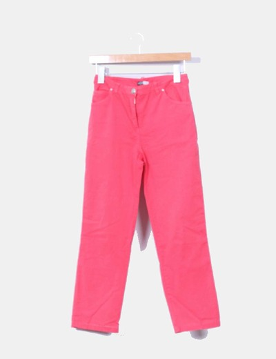 Pantalon denim coral