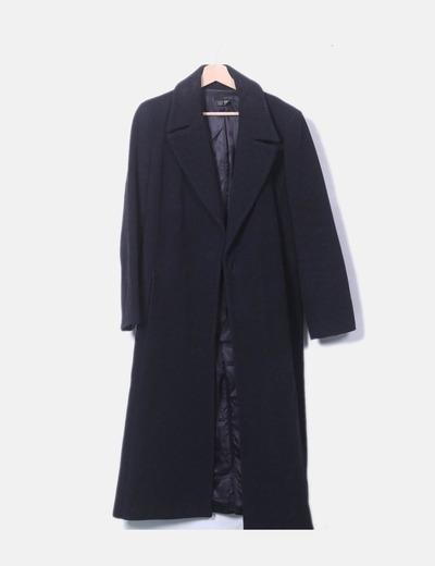 Abrigo largo lana negra