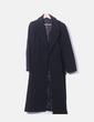 Abrigo largo lana negra Zara