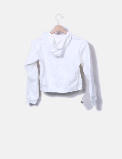 nuevo producto 26392 e22c6 Sudadera blanca con gorro
