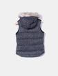 Chaleco acolchado combinado con punto y pelo en la capucha Zara