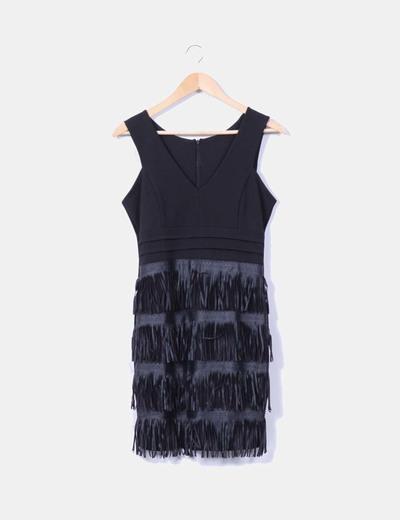 Vestido negro con flecos NoName