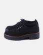 Zapato negro acordonad Stradivarius