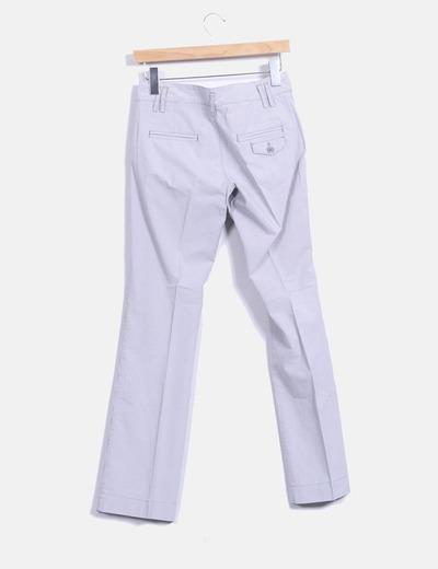 Pantalon rayas recto