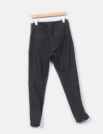 Pantalon gris oscuro de pano