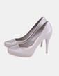 Zapato de tacón gris Zara